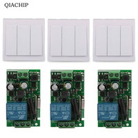 Wall Switch 1 CH Relay Receiver 433MHz RF TX 433MHz RF RX Remote Control System Control