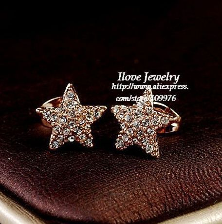 Fashion Italina Full-stone Star Stud Earring