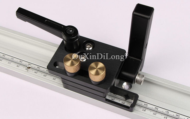 Купить с кэшбэком 1PCS Flip Stop for 45mm T-Track with Adjustable Scale Mechanism (not included 45mm miter t-track) JF1702
