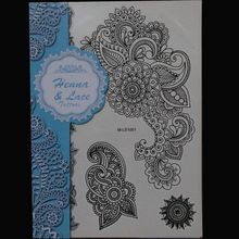 Mandala Henna Tattoos Temporary Black Henna Tattoos Sexy Body Tattoo Stickers