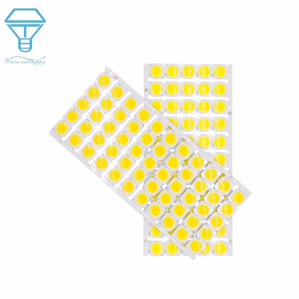 55pcs A Lot 3W 5W 7W 10W LED COB Light Bulb On Board 13*13mm High Power LED Chip Light Lamp Spotlight Downlight Lamps