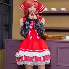 Pretty japanese anime love live nishikino maki caramelo uniforme de sirvienta princesa vintage lolita dress cosplay por encargo