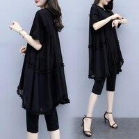 Fashionable Plus Size 5xl Two Piece Set Summer Woman Suit Sets Of Clothes For Women Ensemble Femme Survetement Conjunto Feminino