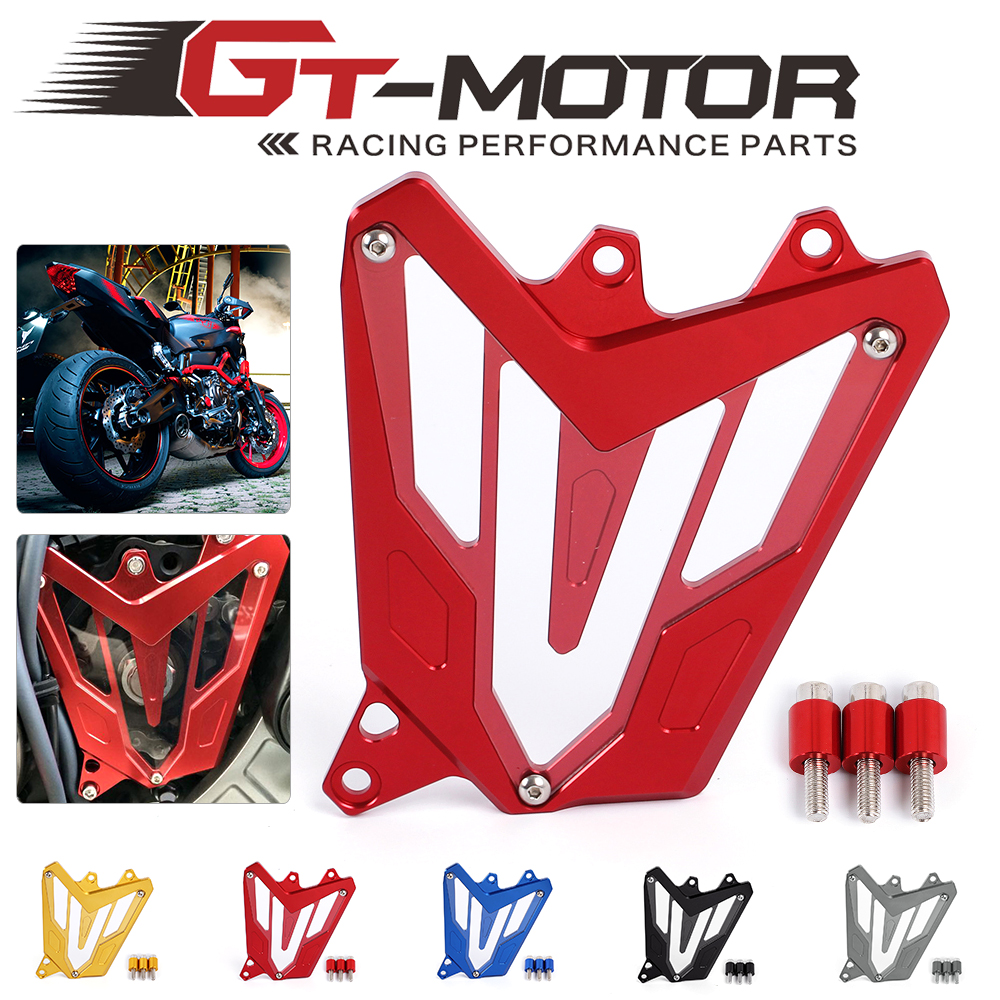 GT Motor-For YAMAHA MT-07 FZ-07 2014 2015 2016  Motorcycle Front Sprocket Cover Panel Left Engine Guard Chain Cover Protection