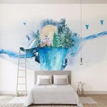 цены Customized 3d wallpaper Nordic modern minimalist abstract geometric mural sofa living room wall quality material waterproof