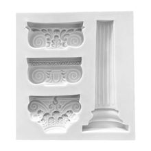 European Retro-Roman Column Patterns Silica gel Sugar molds DIY Chocolate Cake Decorative Baking Tool