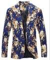 2017 new Three-dimensional cut Blazers men's Korean Slim flower suit