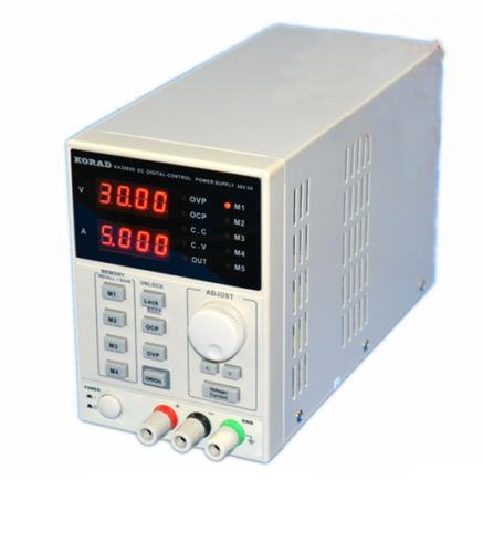 Équipement de laboratoire 30 V 5A DC alimentation précision Variable réglable KA3005D 220 V