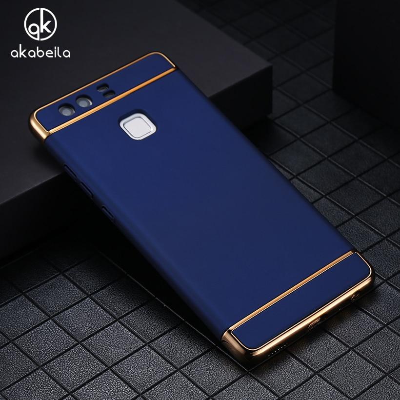 AKABEILA Phone Case For Huawei P9 EVA-L09 (Single SIM) EVA-L19 EVA-L29 (Dual SIM) Cover Plating Hard PC Plastic Cases Shell