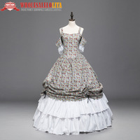Victorian Southern Belle Princess Floral Ball Gown Dress Reenactment Theater Dresses