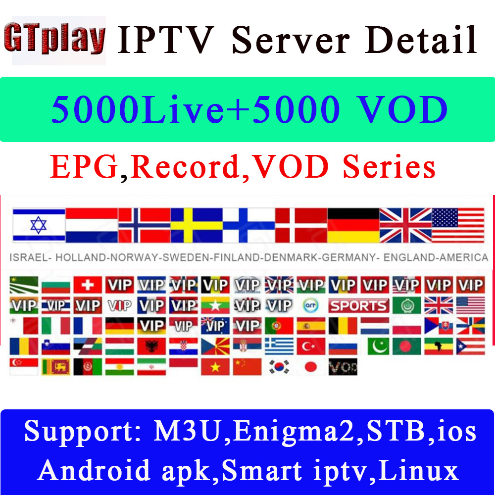 IPTV Spanish Channel UK Italy Spains France Germany Portugal Android Box Enigma2 M3u Smart TV PC GTplayer Xtream STALKER IPTV