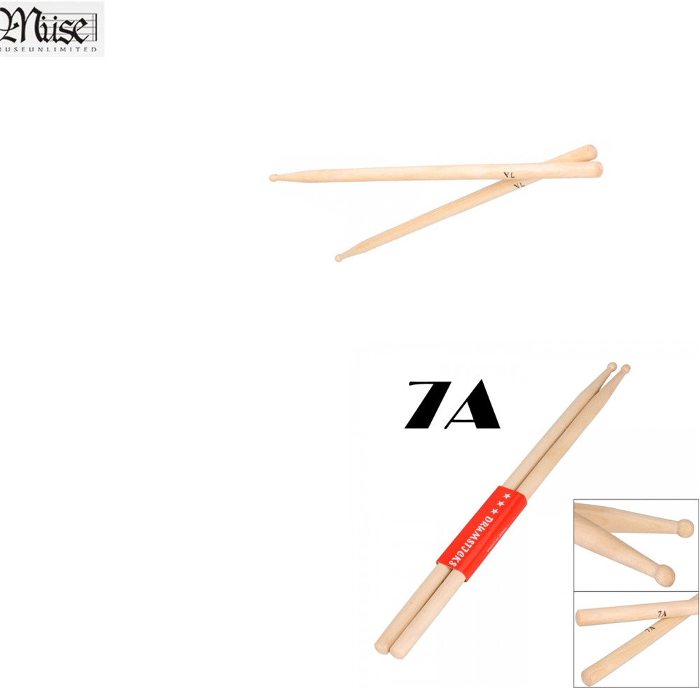 Home 1 Pair Maple Drum Stick Stage Electronic Drums Jazz Rock For Children Students Adults C55k Sale
