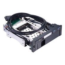 Optical bay 2 5 3 5 dual sata hard drive 5 25in internal hdd enclosure for