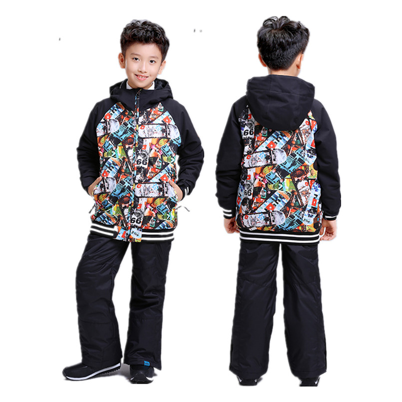 2017 GSOU SNOW ski suit for children kids winter jackets boys snowboard jacket hoodie 2016 new brand children snow runner self balance scooter snow bicycle for kids ski kits