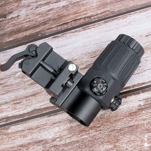 Image 3 - Hunting sight G33 Airsoft 3X Magnifier with Switch to Side Quick Detachable QD Mount for hunting black sand and red color