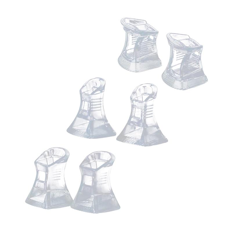 3 pairs of heel protectors from heel heel protection for heel set S M L - clear