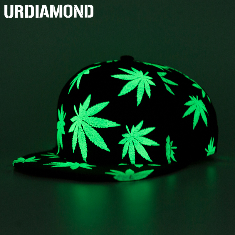 URDIAMOND Snapback-Cap Couples Luminous-Cap Bone-Hat Hip-Hop Sports Women Adjustable