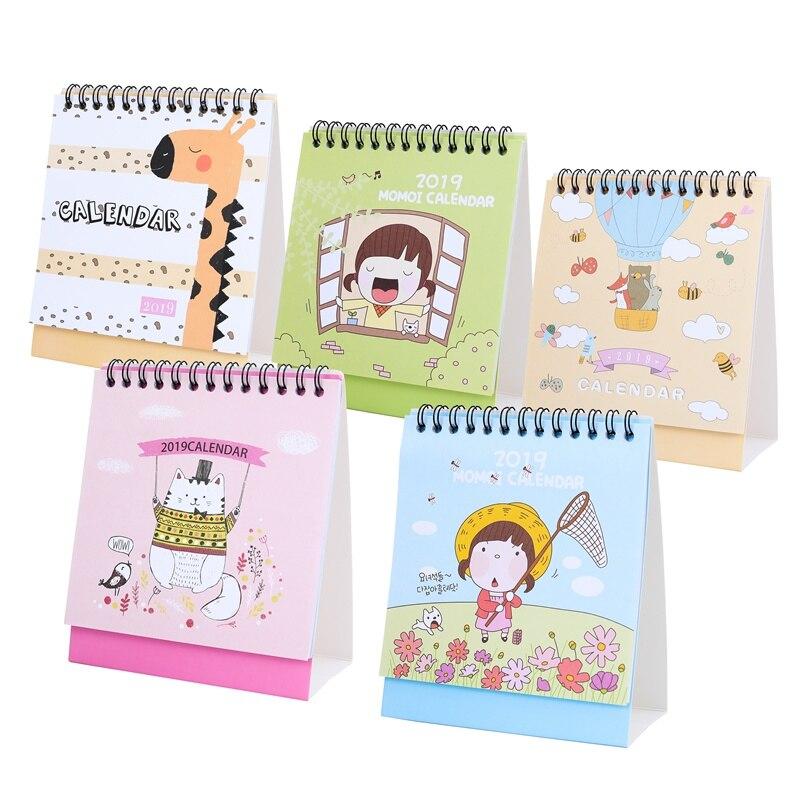 Kalender, Planer Und Karten Kalender Gut Ausgebildete 2019 Nette Cartoon Katze Mädchen Mini Desktop Kalender Papier Planer Jährlich Marker Lernen Arbeits Zeitplan Agenda Organizer