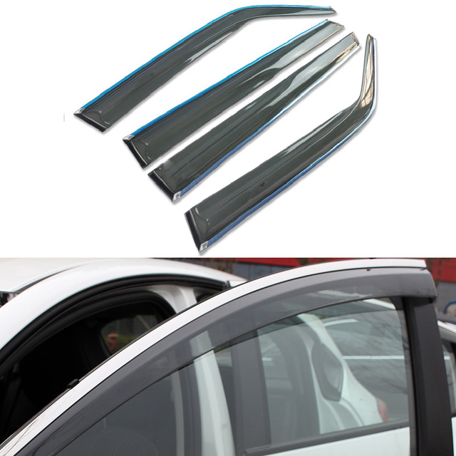 4pcs/lot Car Styling Vent Shade Sun Rain Guard Cover Window Visor For Honda Accord 9th 2013 2014 2015 Accessories Shield