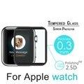 Caso prima templado protector de pantalla de borde metálico de la cubierta completa para apple watch series 2 y 1 protector de pantalla