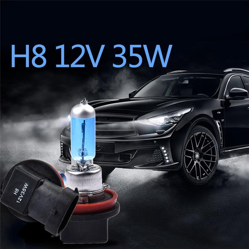 2Pcs H8 35W Bulbs Super White Headlights Fog Lamps Light Running Car Light Source Parking 6000K 12V High Power