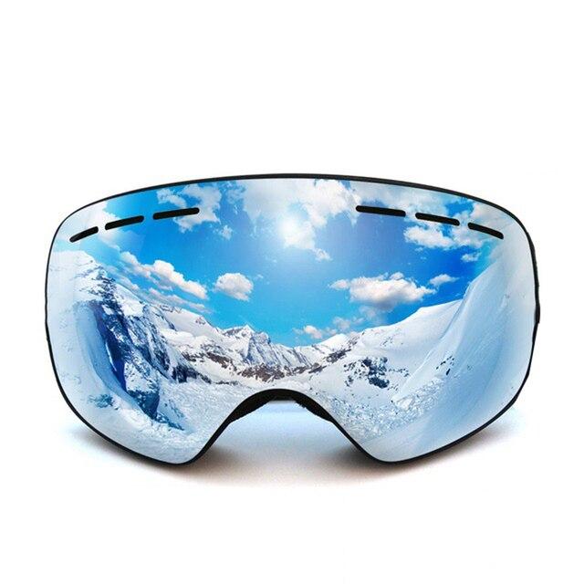 الأطفال التزلج نظارات للطفل بنين بنات زجاج مكافحة عدسات الضباب نظارات الشتاء الثلوج على الجليد حملق تزلج googles الاطفال نظارات التزلج