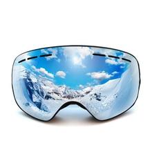 Kinder skifahren brille für kind jungen mädchen glas anti nebel objektiv winter schnee gläser snowboard goggle ski googles kinder ski brille
