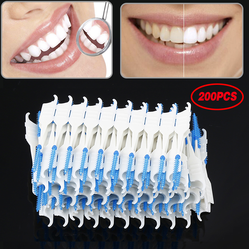 40Pcs/120Pcs/200Pcs Teeth Cleaning Oral Care Tooth Floss Oral Hygiene Toothbrush Dental Floss Soft Interdental Dual Toothpick