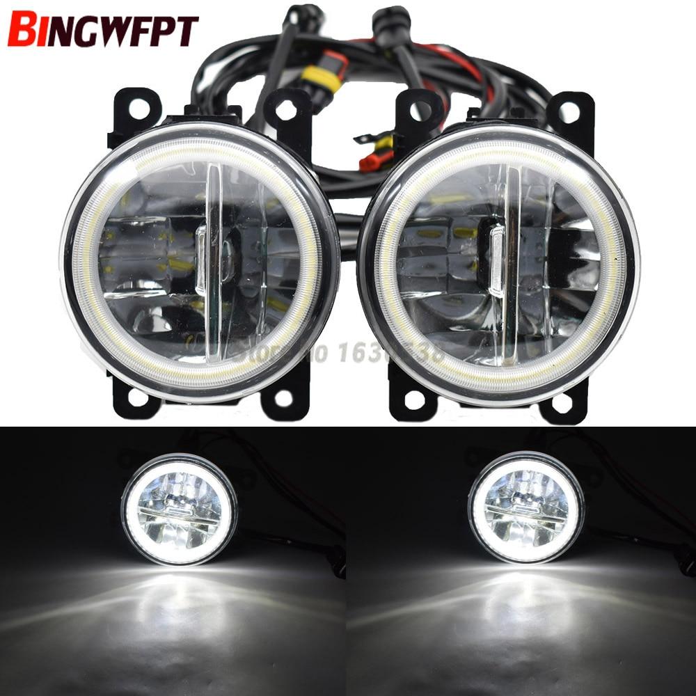 2x Car H11 LED Fog Light Angel Eye DRL Daytime Running Light For Suzuki Grand Vitara