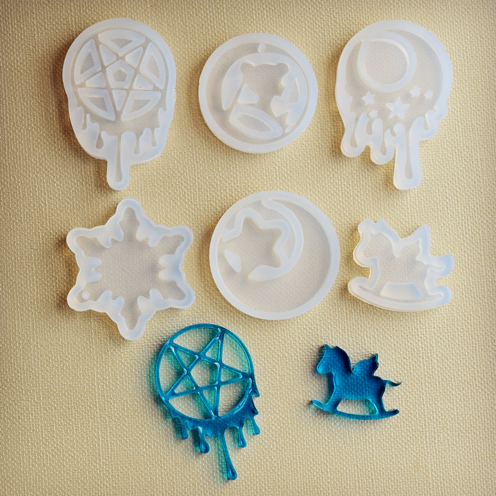 Silicone Mold Tear Moon Star Trojan Resin Silicone Mould Handmade DIY Jewelry Making Epoxy Resin Molds