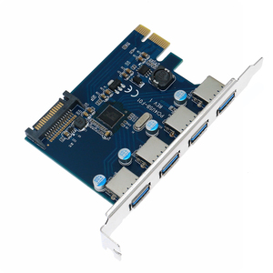 Image 2 - 10pcs PCIE TO 4 Port USB 3.0 PCI e Adapter PCI Express USB 3.0 4 port HUB 19Pin 5.0Gbps FL1100 chipset Support WIN10 WIN8 MAC OS