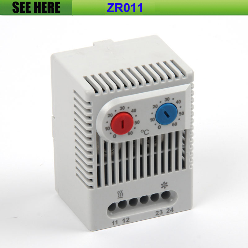 Free Shipping 0 to +60 Degree Heating Cooling NC/NO Double Adjustable Thermostat Temperature Control Controller Switch ZR011 uxcell temperature range ac 250v 16a 3 terminals no nc temperature control capillary thermostat 50 300c 50 300c