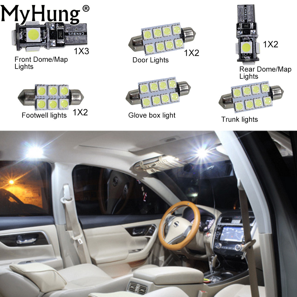 For buick lacrosse 2009 to 2013 gs car led interior light c10w w5w headlight bulbs map