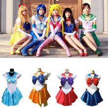Anime bonito soldado Sailor Moon Cosplay disfraz conjunto princesa  Halloween para niños adultos Sailor Moon disfraces cde0dd9676e2