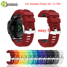 New Replacement Silicagel Soft Quick Release Kit Band Strap For Garmin Fenix 5X for 3/3 HR GPS Watch Easyfit Wrist
