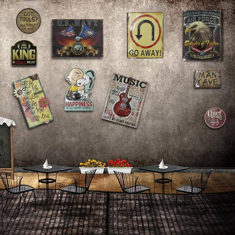 Irregular CARTOON STYLE shade Vintage Tin Sign plaque Bar pub home House Cafe Restaurant Wall Decor Retro Metal Art Poster|retro house|home decor|posters posters - title=