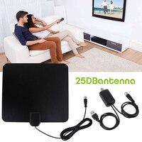 Ультратонкая плоская комнатная HD ТВ усиленная сигнальная антенна 50 миль HD ТВ антенны воздушные высокого качества
