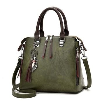 024972013 Vintage cuero bolsos de las señoras bolsas de mensajero para mujeres,  TotesTassel diseñador Crossbody bolso de hombro Boston bolsas de mano de  Venta ...