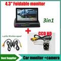 2.4G wireless signal for Mazda Summit Mazda 6 M6 RX-8 mazda6 car parking rear view reversing camera + 4.3'' car monitor mirror