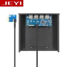 JEYI PE6 Настольных CD-ROM Оптический привод 4 порта PCI-E для USB3.0 расширение карты ВЛИ VL805 передней панели PCI-Express X1, X4, X8, X16 USB3.1