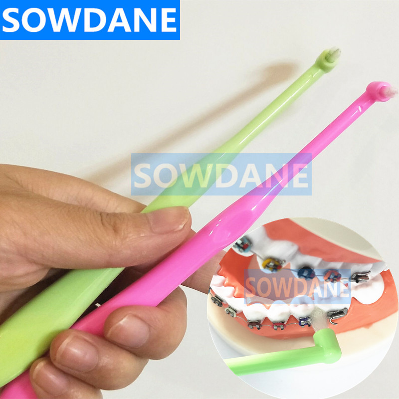 Orthodontic Toothbrush Decayed Tooth Brush Interdental Brush Small Head Pointed Deep Clean Dental Floss Oral Care Hygiene Clean image