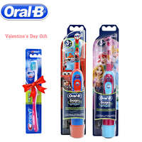 Oral B Children Electric Toothbrush Disney Cars Oral Care Soft Bristle Kids Brush Stages Battery Oprated