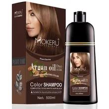 Coloring Shampoo Hair-Dye Permanent-Hair Professional Brown Mokeru Natural Women Dying