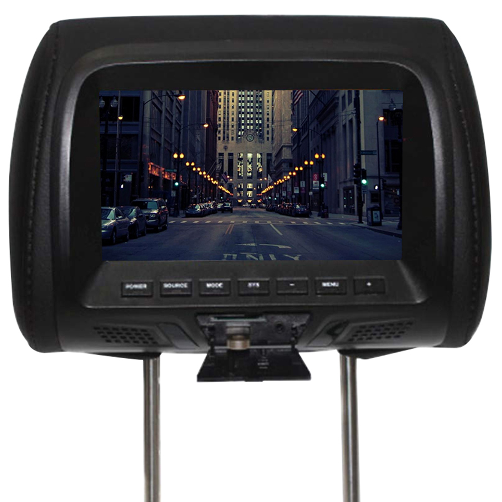 7 Inch Seat Back Built In Speaker Digital Car Support Player Video LED Screen Universal Camera Multi Media Headrest Monitor