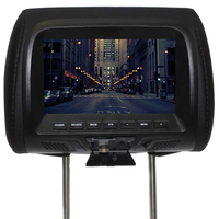 7 Inch Seat Back Built In Speaker Digital Car Support Player Video LED Screen Universal Camera Multi Media Headrest Monitor