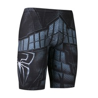 Men Slimming Tights Superheros Spiderman Compression Base Layer Shorts Short Pants Trousers