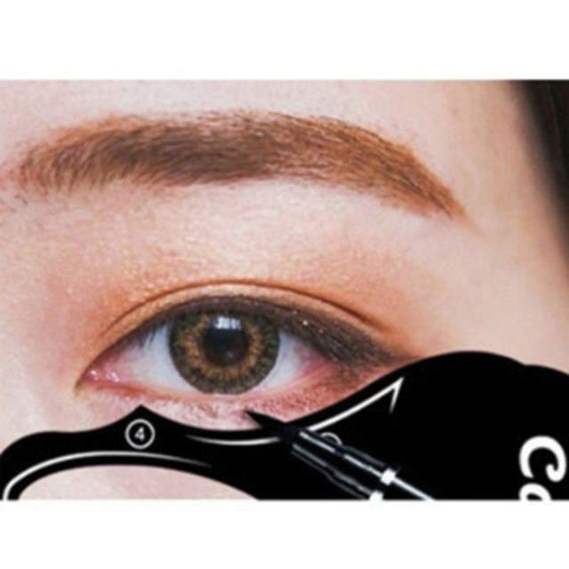 10pcs/lot Beauty Eyebrow mold Stencils Women Cat Line Pro Eye Makeup Tool Eyeliner Stencils Template Shaper Model for Women Girl 5