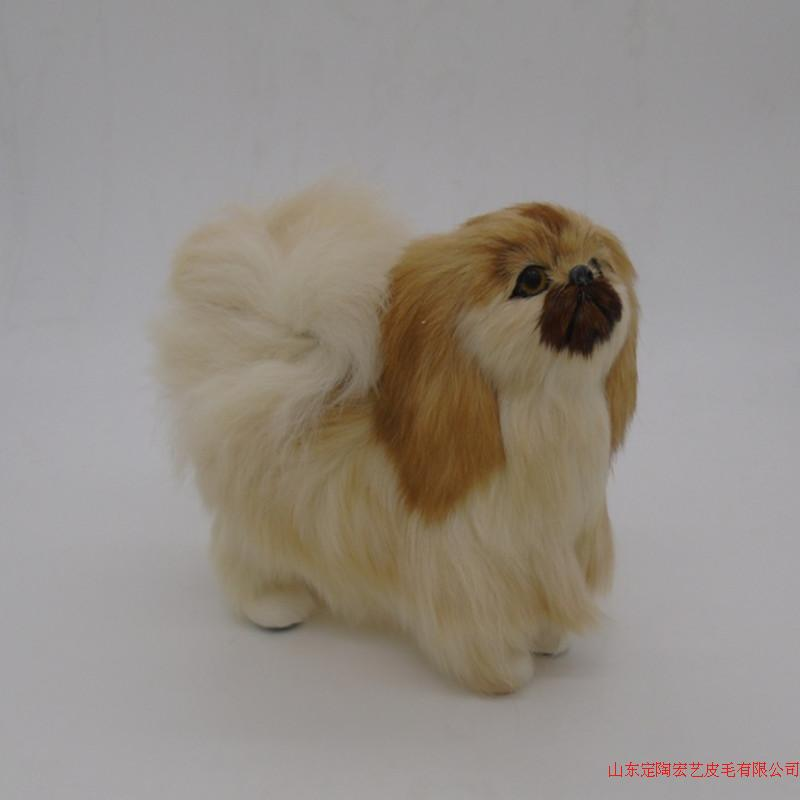 cute simulation dog polyethylene & furs standing Pekingese dog doll gift about 20*8.5*17CM 228 stuffed animal 44 cm plush standing cow toy simulation dairy cattle doll great gift w501
