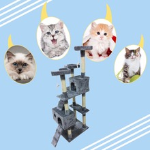 New 170CM Cat Tree Tower Condo Furniture Scratch Post Cat Jumping Toy with Ladder for Kittens Pet House Playing Climbing-in Furniture & Scratchers from Home & Garden on Aliexpress.com | Alibaba Group