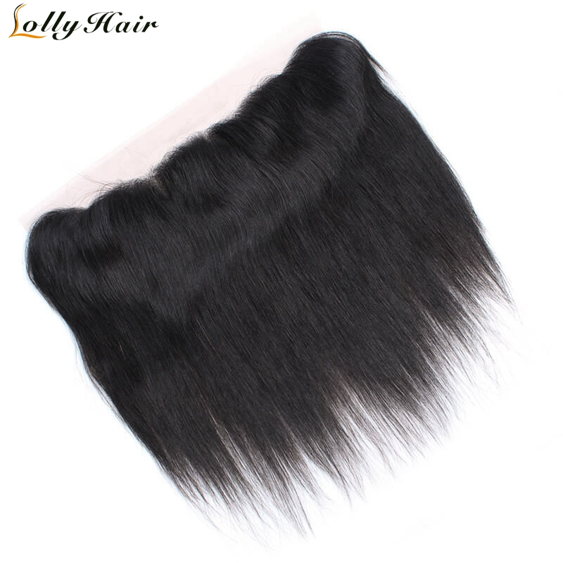 Lolly Hair 8-20 Inch Indian Straight Hair Frontal With Baby Hair 13X4 Ear To Ear Natural Hairline Remy Human Hair Lace Frontal
